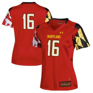 #16 Maryland Terrapins Under Armour Women's Replica Football Jersey