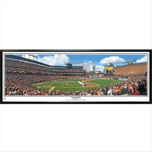 Baltimore Orioles 39″ x 13.5″ Opening Day Standard Black Framed Panoramic