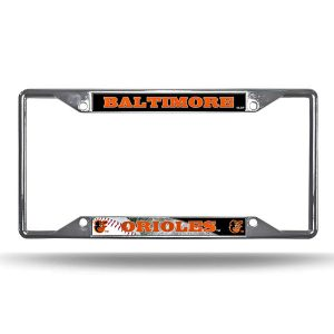 Baltimore Orioles EZ View Chrome License Plate Frame