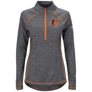 Baltimore Orioles Majestic Women's Don't Stop Trying Cool Base Half-Zip Pullover Jacket