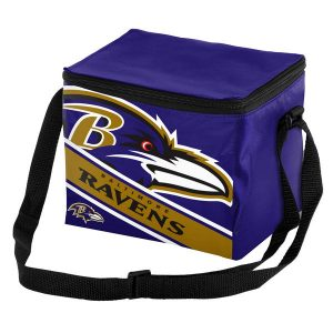 Baltimore Ravens Big Logo Stripe 6 Pack Cooler