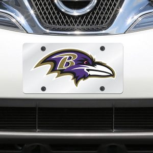 Baltimore Ravens Mirror License Plate With Laser Cut Acrylic Logo