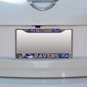 Baltimore Ravens Small Over Large Mega License Plate Frame
