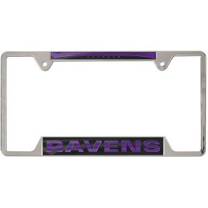 Baltimore Ravens WinCraft 4-Tab Style Inlaid Metal License Plate Frame