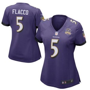 Joe Flacco Baltimore Ravens Nike Women's Patch Game Jersey