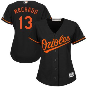 Manny Machado Baltimore Orioles Majestic Women's Alternate Cool Base Replica Player Jersey