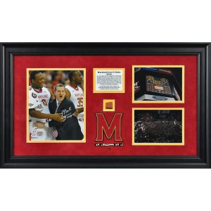 Mark Turgeon Framed Autographed Win Over #1 Duke w/ Piece of Game-Used Ball