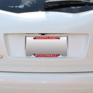 Maryland Terrapins Acrylic Football License Plate Frame