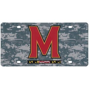 Maryland Terrapins Digi Camo Laser Cut License Plate