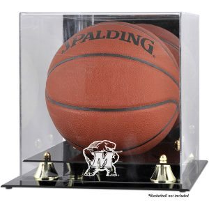 Maryland Terrapins Fanatics Authentic Golden Classic Logo Basketball Display Case with Mirror Back