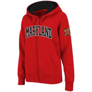 Maryland Terrapins Stadium Athletic Women's Arched Name Full-Zip Hoodie