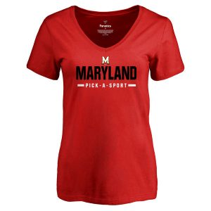 Maryland Terrapins Women's Custom Sport V-Neck T-Shirt