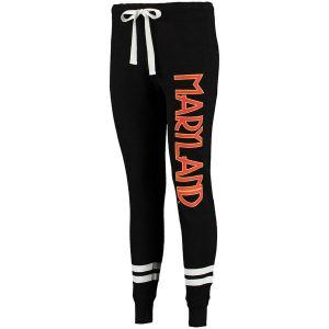 Maryland Terrapins Women's Game Day Striped Thermal Jogger Pants