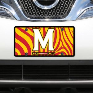 Maryland Terrapins Zebra Acrylic Laser-Cut License Plate