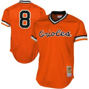 Men's Baltimore Orioles Cal Ripken 1988 Authentic Mesh Batting Practice Jersey