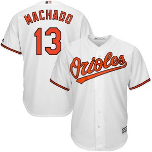 Men's Baltimore Orioles Manny Machado Majestic White Home Cool Base Player Jersey