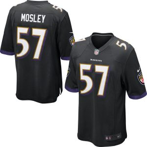 Mens Baltimore Ravens C.J. Mosley Nike Black Game Jersey
