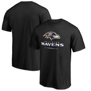 Men's Baltimore Ravens NFL Pro Line Black Team Lockup T-Shirt