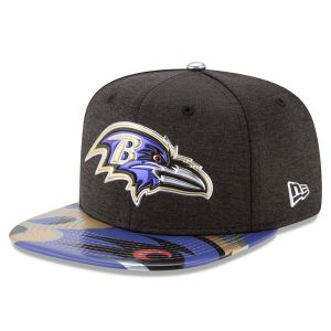 Men's Baltimore Ravens New Era Black 2017 NFL Draft On Stage Snapback Hat