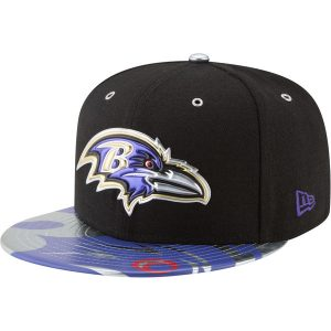 Men's Baltimore Ravens New Era Black 2017 NFL Draft Spotlight 59FIFTY Fitted Hat