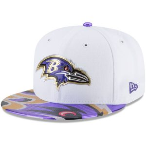 Men's Baltimore Ravens New Era White 2017 NFL Draft Fitted Hat