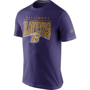 Mens Baltimore Ravens Nike Purple Rewind Lock Up Slim Fit T-Shirt