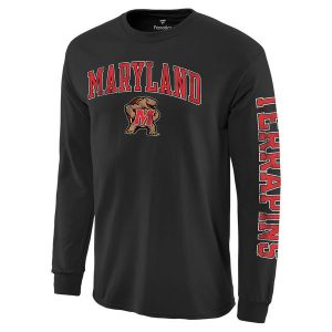 Men's Maryland Terrapins Distressed Arch Over Logo Long Sleeve Hit T-Shirt