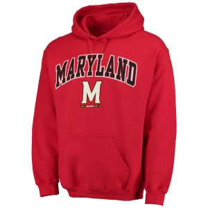 Men's Fanatics Branded Red Maryland Terrapins Campus Pullover Hoodie