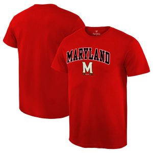 Men's Fanatics Branded Red Maryland Terrapins Campus T-Shirt