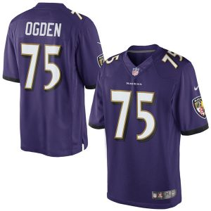 Mens Nike Jonathan Ogden Purple Baltimore Ravens Retired Player Limited Jersey