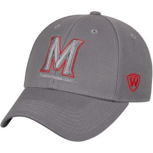 Men's Top of the World Gray Maryland Terrapins Dynasty Fitted Hat