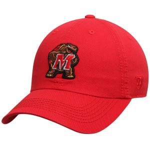 Men's Top of the World Red Maryland Terrapins Solid Crew Adjustable Hat