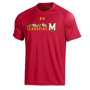 Men's Under Armour Red Maryland Terrapins 2016 On-Field Tech T-Shirt