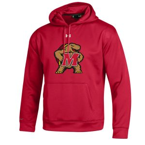 Men's Under Armour Red Maryland Terrapins Big Logo Storm Performance Pullover Hoodie