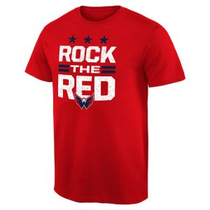 Men's Washington Capitals Rinkside Red Hometown Collection Rock The Red T-Shirt