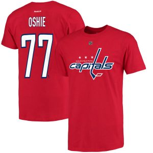 Men's Washington Capitals TJ Oshie Reebok Red Name & Number T-Shirt