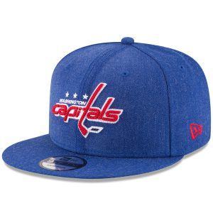 Washington Capitals New Era Heather Crisp 9FIFTY Snapback Adjustable Hat
