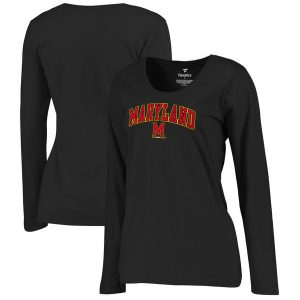 Women's Black Maryland Terrapins Campus Long Sleeve T-Shirt