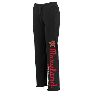 Women's Black Maryland Terrapins Cozy Fleece Sweatpants