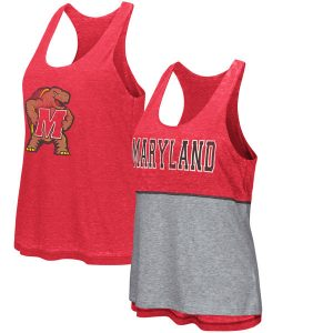 Women's Colosseum Red Maryland Terrapins Red Ross Reversible Tank Top