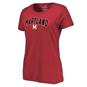Women's Fanatics Branded Red Maryland Terrapins Campus T-Shirt