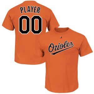 Youth Baltimore Orioles Majestic Orange Custom Roster Name & Number T-Shirt