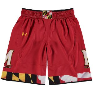 Youth Under Armour Red Maryland Terrapins Replica Basketball Shorts