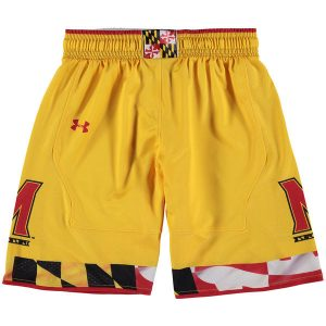 Youth Under Armour Yellow Maryland Terrapins Replica Basketball Shorts