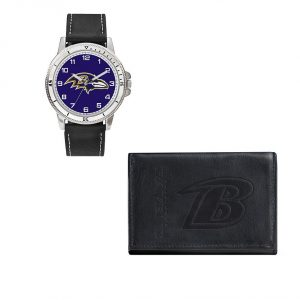 Baltimore Ravens Watch & Trifold Wallet Gift Set