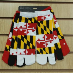 Maryland Themed Flip Flop Socks  3 Pack . Accepting PREORDERS