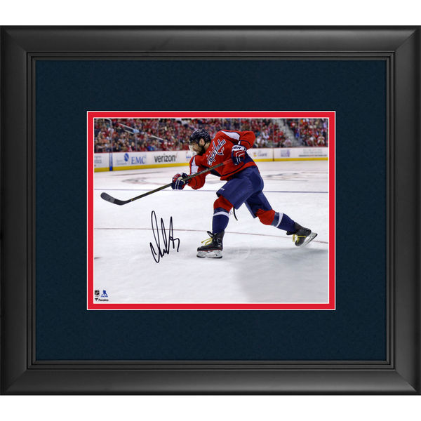 "ce2319dfc Alex Ovechkin Washington Capitals Framed Autographed 8"" x 10"" Red ..."