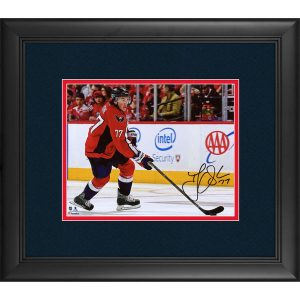 Autographed Washington Capitals T.J. Oshie Framed 8″ x 10″ Red Jersey Skating Photograph