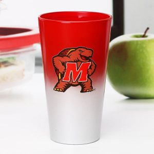Maryland Terrapins 17oz. Color Chrome Mixing Glass