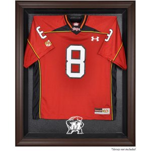 Maryland Terrapins Brown Framed Logo Jersey Display Case